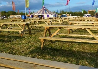 Picnic Benches at a Festival