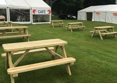 Picnic Benches Set up